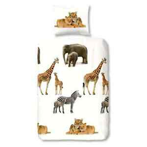 Good-Morning-Bettwaesche-Set-YOUNG-amp-WILD-Kinder-135x200cm-Flanell-Bettgarnitur