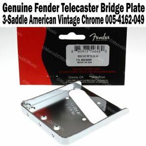 Plaque de bridge FENDER USA 50s TELECASTER 0054162049 vint 3 saddles guitar TELE