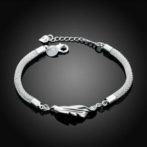 Feu cristal Bracelet solid sterling silver vintage cadeau pour femmes Bijoux NEUF