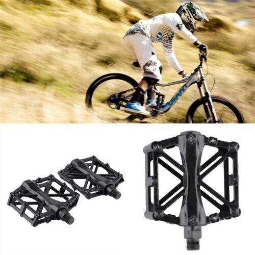 Pair Aluminum Alloy Flat Platform Bicycle Cycling Riding Pedals Treadle Q8