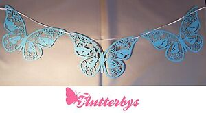 5-Metres-Lazer-Cut-Butterfly-Bunting-Various-Colours-wedding-party-decoration