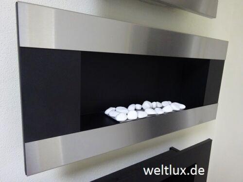 Cheminée biokamin Bioéthanol avec TÜV wandkamin cheminée avec sa avec vitre