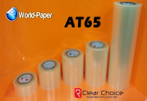 """Application Transfer Tape Vinyl Signs R TAPE Clear AT65 1 Roll 6/"""" x 15 Feet"""