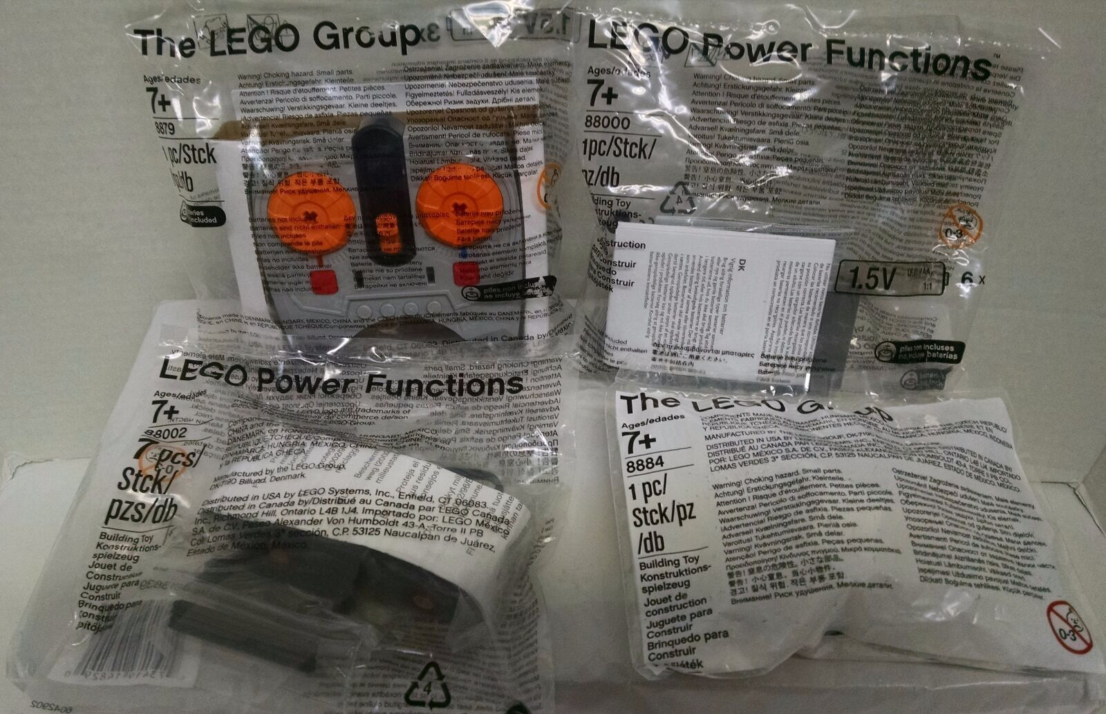 Lego 4 Power Functions 88000 + 88002 + 8879 + 8884  Power Holiday Train & More