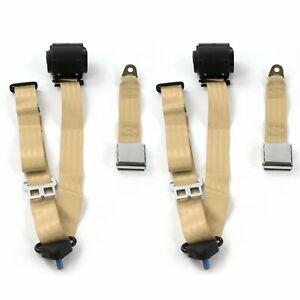 Ford Maverick 1971-1977 Standard 3pt G//G Retract Bucket Seat Belt Kit-2 Belts