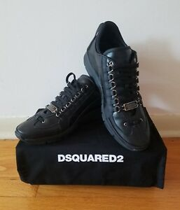 Leather Vitello Mens Us 10 Black Dsquared2 Sport New 5Ebay Sneaker Yg76Ifvyb
