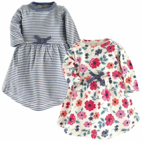 Floral 2-Pack Organic Cotton Long-Sleeve Dress