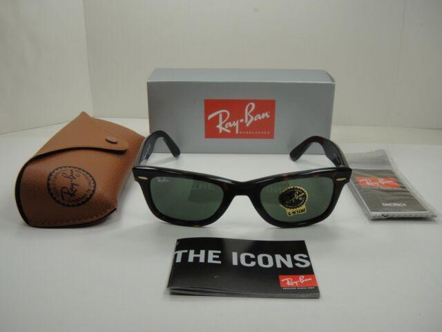 100 Authentic Ray-Ban Wayfarer Rb2140 902 50mm Sunglasses Tortoise . f269cdce7236