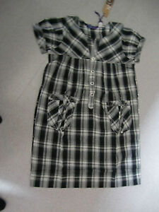 Damen-Blusen-Karo-Groesse-32-gruen-schwarz-weiss-blau-Baumwolle-langarm-Mode-NEU