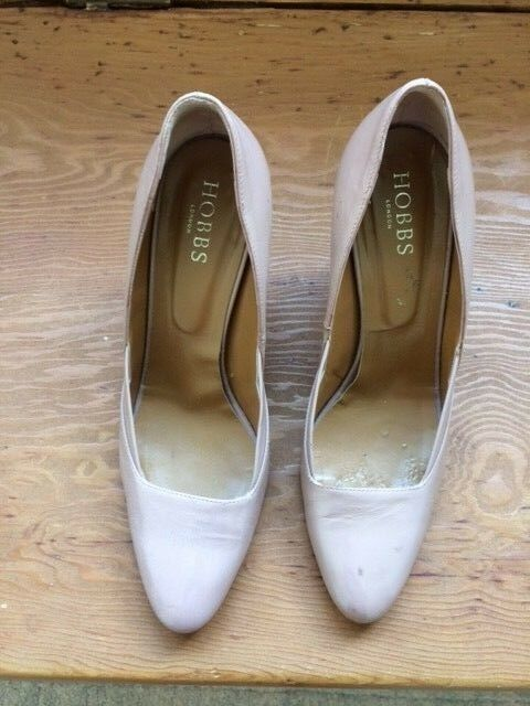 Women's Hobbs patent leather size nude high heeled shoes size leather fe1aaf