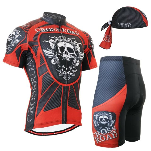 FIXGEAR CS-1302-SET Cycling Jersey & Shorts Padded, Bicycle Wear, MTB Road Bike