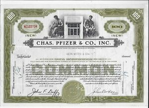 1959 * PFIZER * AZIONE STORICA USA DELLA PIU' GRANDE SOCIETA' FARMACEUTICA°%