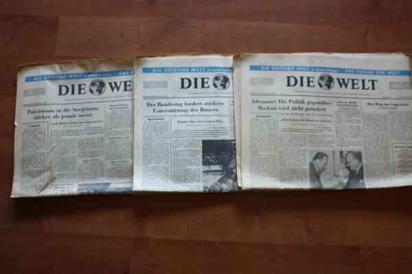 100% Wahr Die Welt 3 Ausgaben 1960 * Oíginal Vom 24.12.60 25.12.60 Sowie 31.12.60 Grade Produkte Nach QualitäT