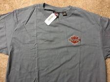 Harley Davidson embroidered bar and shield  gray Shirt Nwt Men's Large