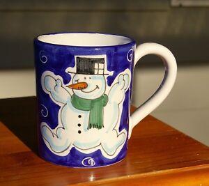 Snowman Sur Company Sberna Deruta Détails Coffee Starbucks Mug Italy Blue n0m8Nw