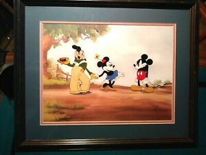 MICKEY, MINNIE, MORTIMER MICKEY'S RIVAL DISNEY LTD. ED. #140 NEW, CUSTOM FRAMED