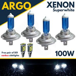 4-X-H7-100w-Super-White-Xenon-Upgrade-Headlight-Bulbs-Set-499-12v-Full-dipped