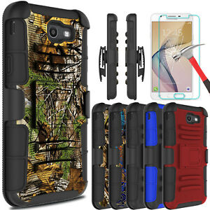 For-Samsung-Galaxy-J7-V-Prime-Sky-Pro-Case-With-Kickstand-Clip-Screen-Protector