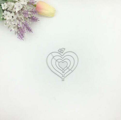 Love Heart Shapes Metal Cutting Dies Stencil Scrapbooking Photo Album Embossing