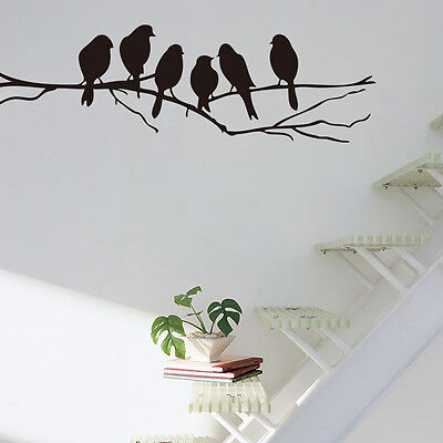 Wall stickers Decal Removable Art Home Mural Decor Black Bird Tree Branch