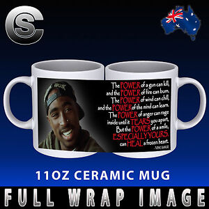 2pac Tupac Shakur Power Of A Smile Coffee Mug Cup Gift Idea Quote