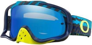229a3a1e37 Image is loading New-Oakley-Crowbar-MX-Goggle-Bumps-Blue-Green-