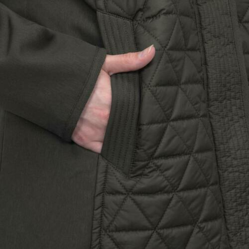 NEW WOMENS MARC NEW YORK PYRAMID QUILTED SOFT SHELL SLEEVE HOODED JACKET VARIETY