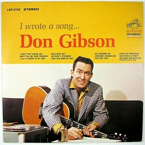 DON-GIBSON-I-wrote-A-Song-LP-1963-COUNTRY-ROCKABILLY-NM-NM