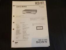 Original Service Manual Sony HCD-VF1