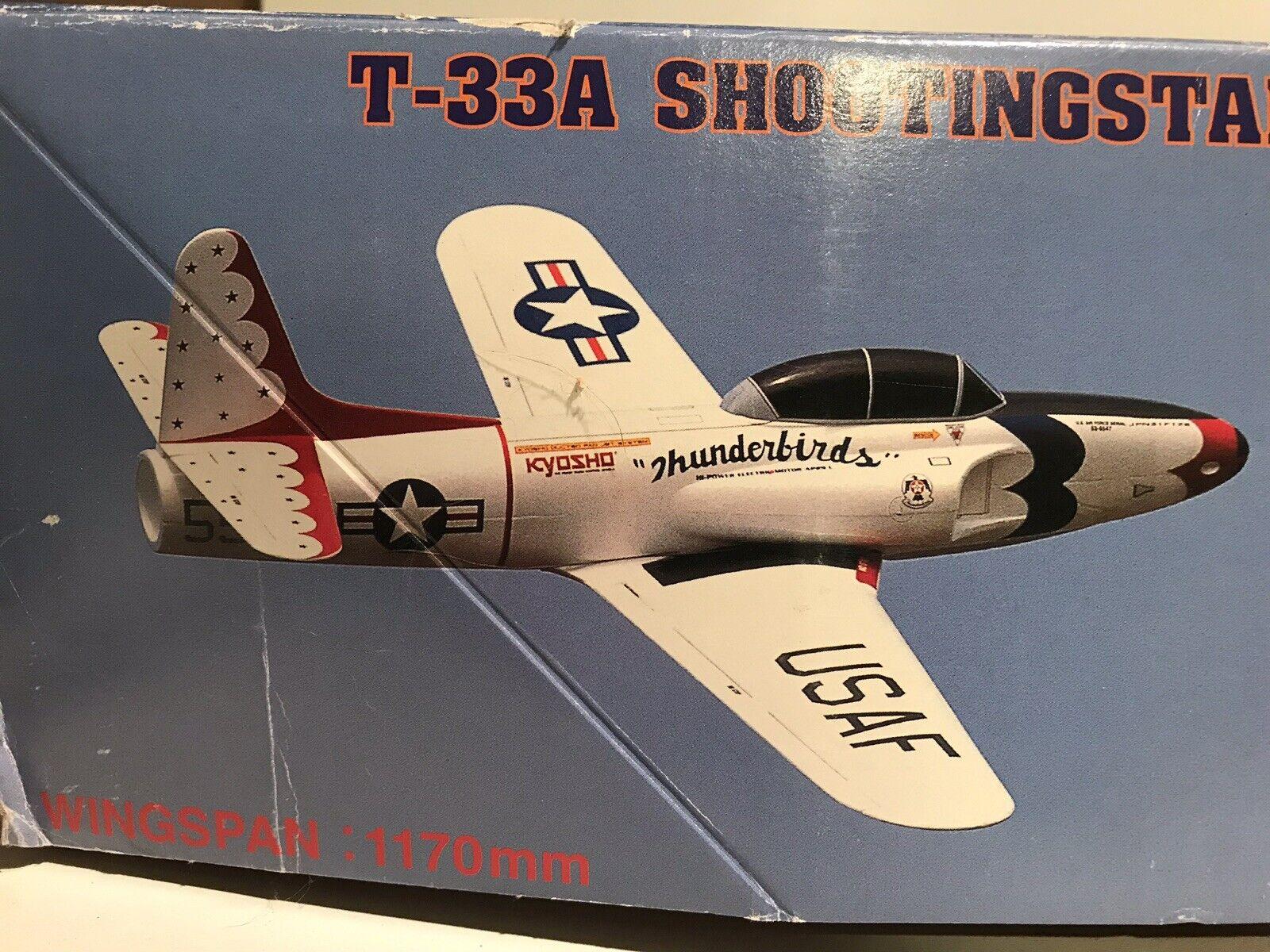 Discontinuado Kyosho Foam Arf T-33 Shooting Star Ducted Fan Jet