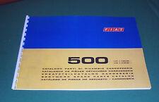 Manuale catalogo parti di ricambio carrozzeria FIAT 500 R-