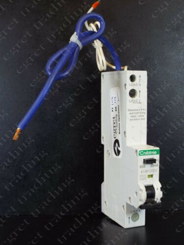 TESTED Crabtree RCBO 61//range 30mA Starbreaker Free Delivery