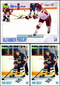 3x-CLASSIC-1993-MIKE-BOSSY-116-ALEXANDER-MOGILNY-RC-CRASH-NUMBERED-15000-LOT