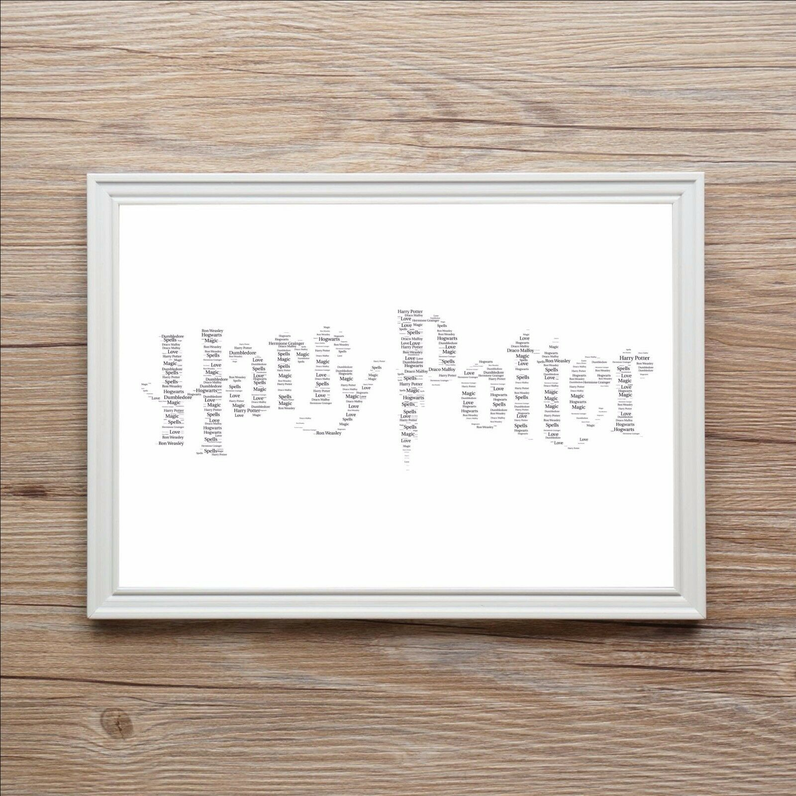 HARRY POTTER PERSONALISED Word Art Print Birthday Christmas Gift J K ...