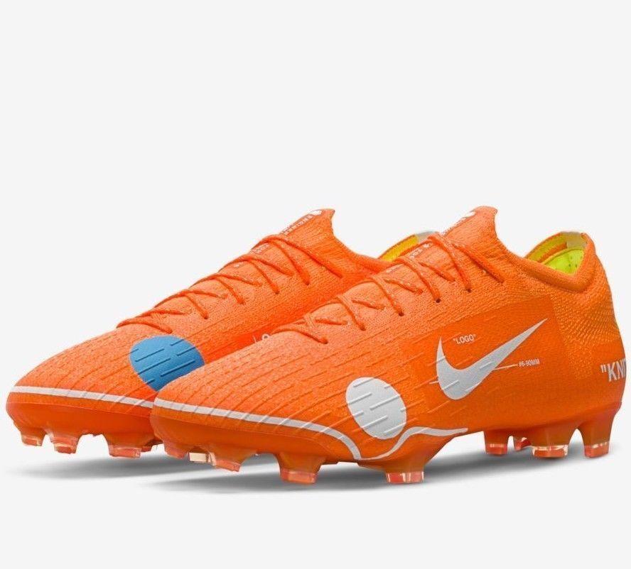 New Hommes Nike Mercurial Vapor 360 Virgil Abloh blanc cassé Football Boot UK10 UE 45-