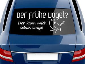 Autoaufkleber Auto Aufkleber Tattoo Für Heckscheibe Spruch Der Frühe
