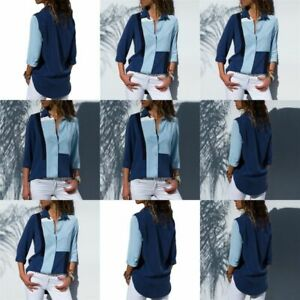 New-Long-Sleeve-Blouse-Solid-Top-O-Neck-Casual-Jumper-Tops-Pullover-Elegant