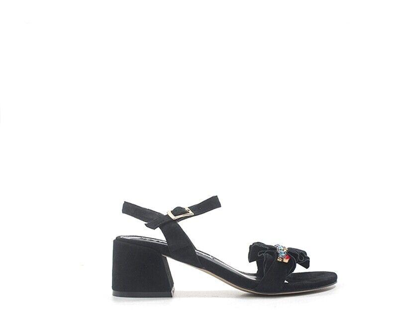 zapatos EMANUELLE VEE mujer Sandali Alti  negro Pelle naturale 491-124-10-P002