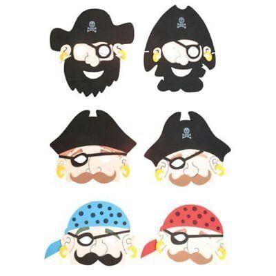 6 X Bambini Schiuma Pirata Maschere-mostra Il Titolo Originale Acquista Sempre Bene