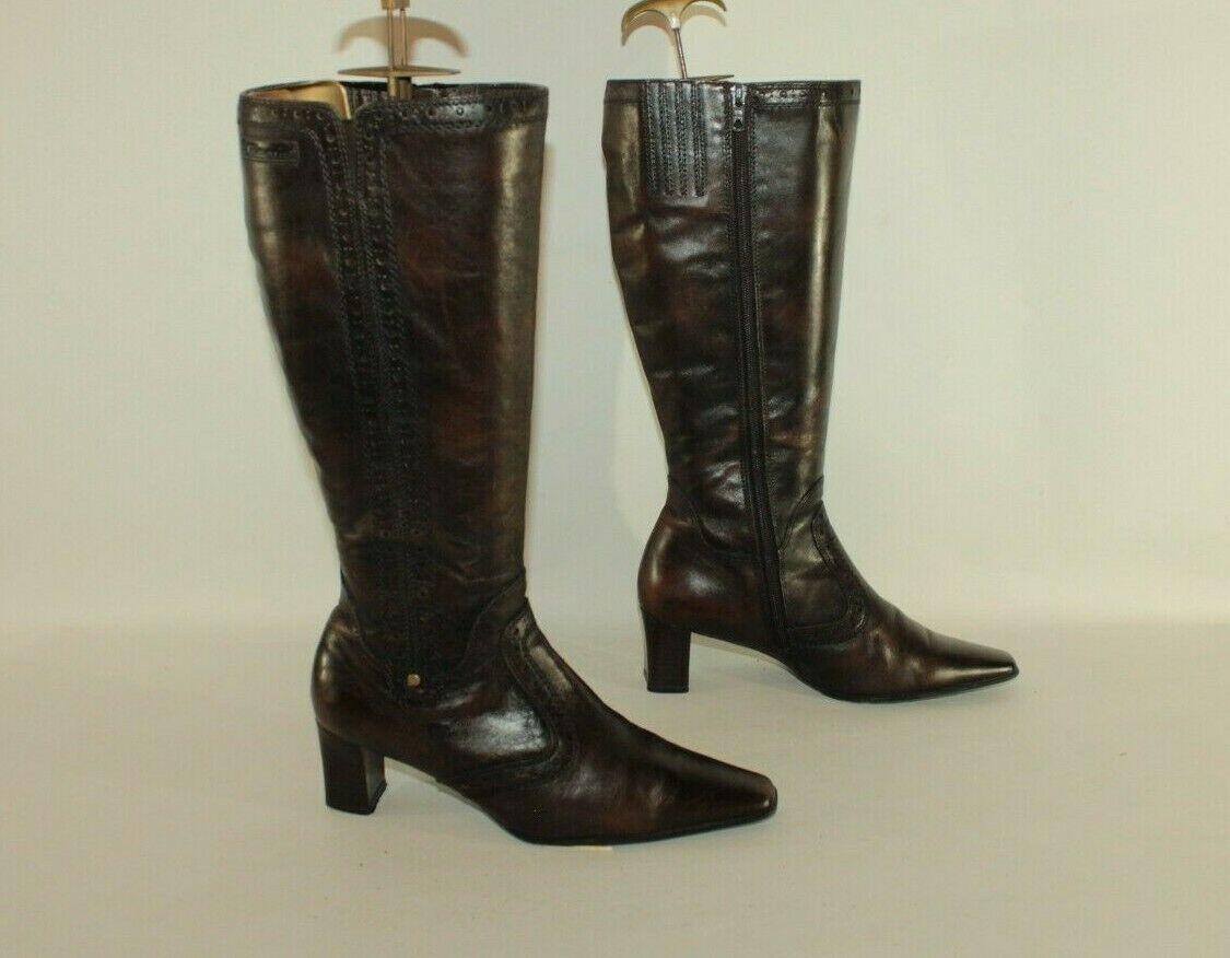 braun Leather TAMARIS Zip Pointed Mid Heel Mid Mid Mid Calf Casual Stiefel Größe 5   38    Am wirtschaftlichsten  d46852