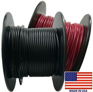 14 AWG Marine Wire Spool Tinned Copper Primary Boat Cable 50 ft Red Made in USA