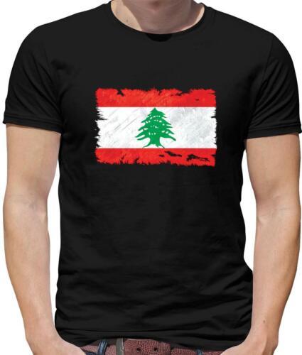 Country Republic Lebanese Lebanon Flag Mens T-Shirt Beirut Flags