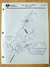 Original Rockwell 6 Jointer Old Style 654 37 307 Illustrated Parts List J 2