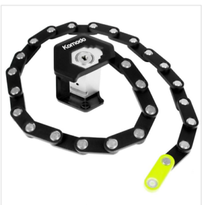 Folding Bicycle Lock with an interlocking chain made from zinc alloy and ABS
