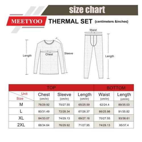 Herren Thermo Unterwäsche Set lange Unterhose Unterhemd Shirt Warm Ski Winter