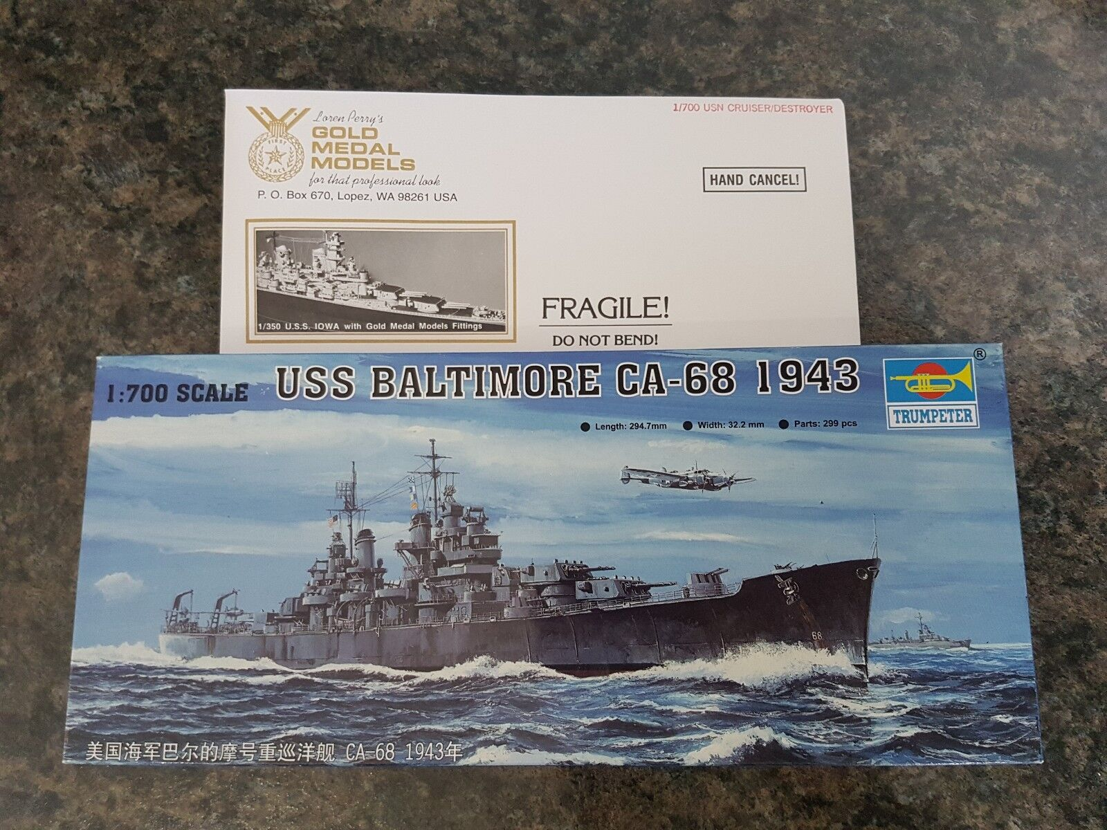 Trumpeter 1 700 USS Baltimore CA-68 1943 Battleship Metal Etched Parts Inc Rare