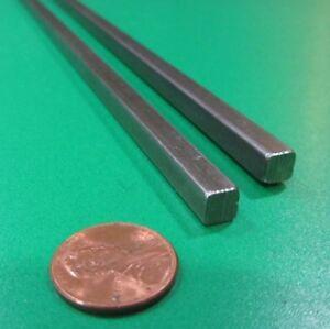 "12L14 Square Carbon Steel Bars, 1/4"" Square x 3 Ft Length, 2 Units"