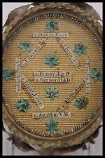 † ITALIAN STERLING MULTI RELIQUARY 10 RELICS JESUIT, VIRGIN, KING, WAX SEALED †