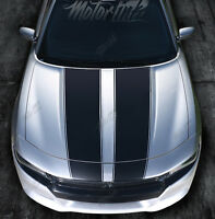 2015 2016 2017 Dodge Charger Hood Blackout Rally Stripes Racing Graphics Decals