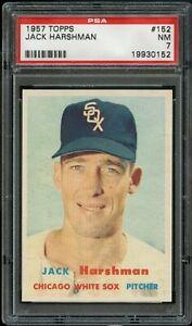 1957-Topps-BB-Card-152-Jack-Harshman-Chicago-White-Sox-PSA-NM-7